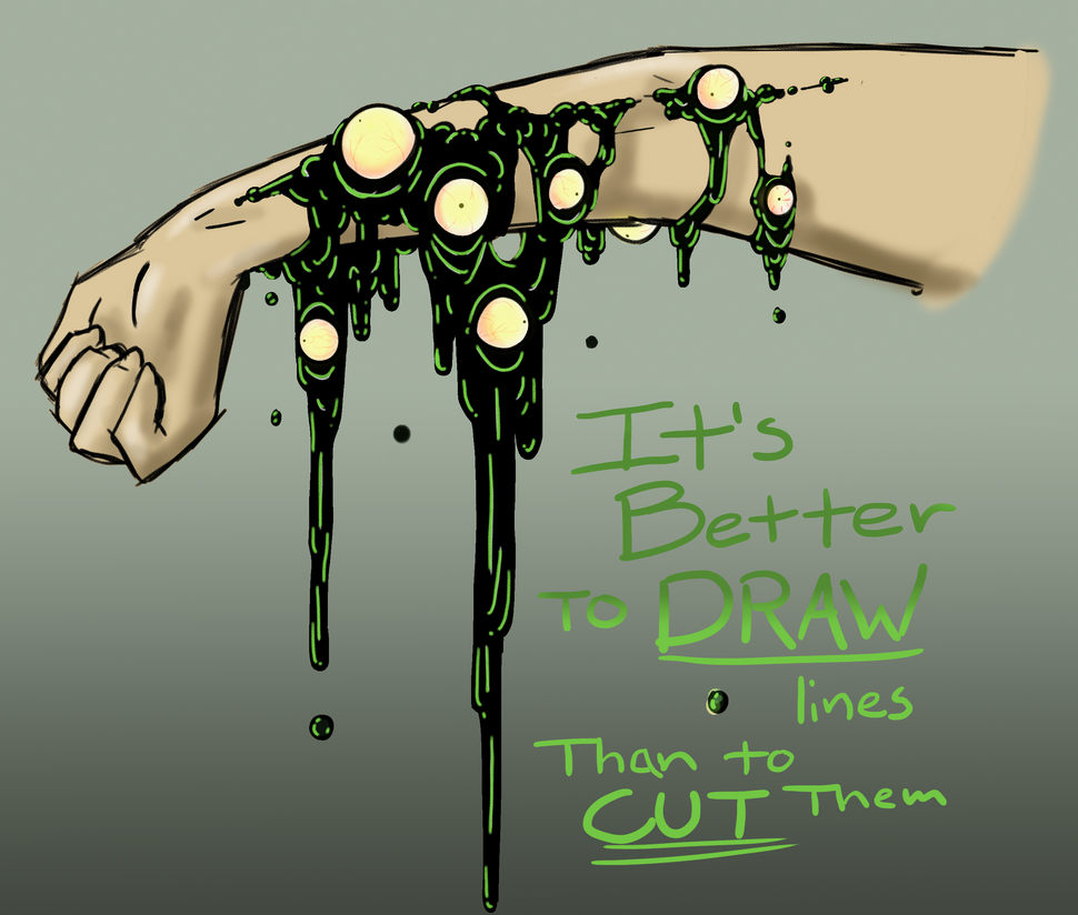 Trigger warning: Drawing Lines by Ichi-CooCoo