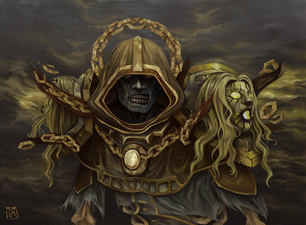 Menacing Undead Priest|World of Warcraft Fan Art by SugarBorn