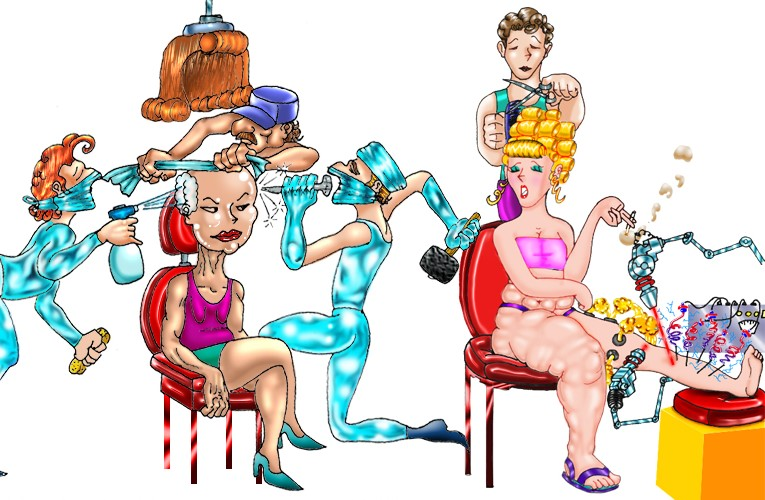 esthetic surgery caricature by bandro