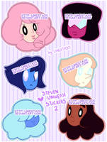 Steven Universe Stickers 2 by Prisma-kiss