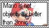 Stamp request: Mario is not objectively better by LadyRebeccaStamps