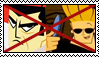 Stamp request: Anti Samurai Jack X Johnny Bravo by LadyRebeccaStamps