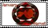 January birthstone: garnet by LadyRebeccaStamps