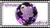 February birthstone: Amethyst by LadyRebeccaStamps
