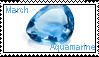 March birthstone: Aquamarine by LadyRebeccaStamps