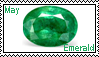 May birthstone: Emerald by LadyRebeccaStamps