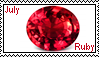 July birthstone: Ruby by LadyRebeccaStamps