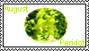 August birthstone: Peridot by LadyRebeccaStamps