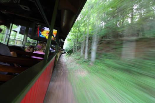 Tweetsie Train with extreme motion blur