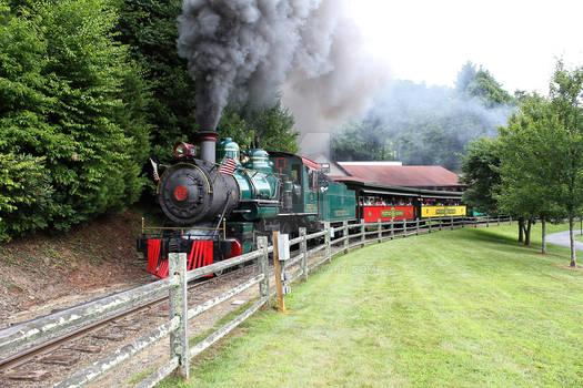 Closeup of the Tweetsie Railroad Theme Park Train
