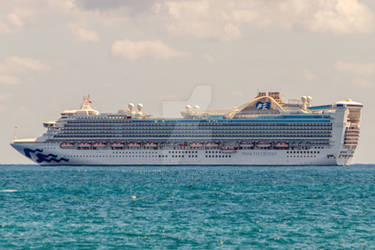 Caribbean Princess Ocean Passenger Cruise Ship