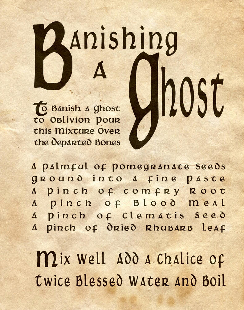 Ghost Haunting Poltergeist Spells From www ...