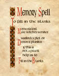Memory Spell, To Fill In The Blanks