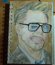 Robert Downey jr aquarelle
