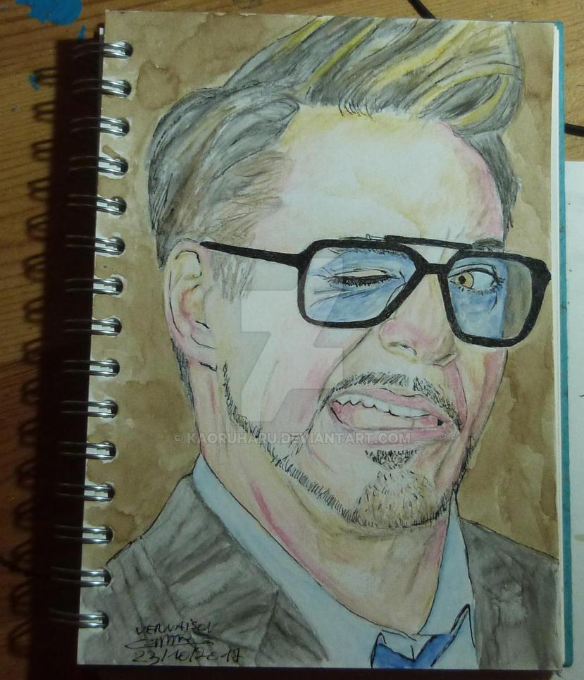 Robert Downey jr aquarelle by kaoruharu