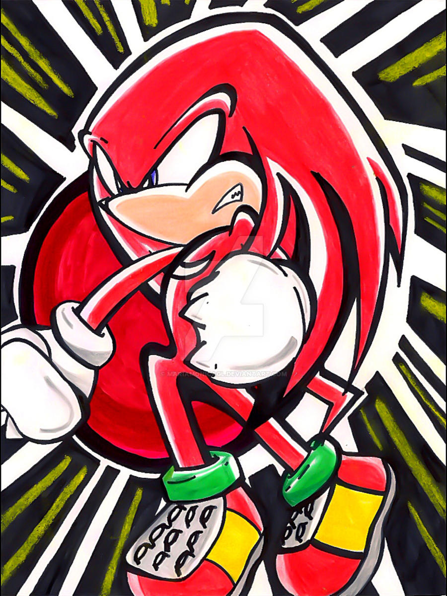 Knuckles the Echidna by MaRiaMonicaGL