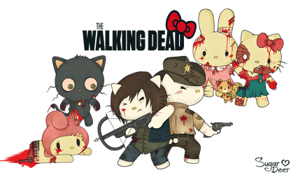 The Walking Dead [Hello Kitty Edition] by Sugar-Deer