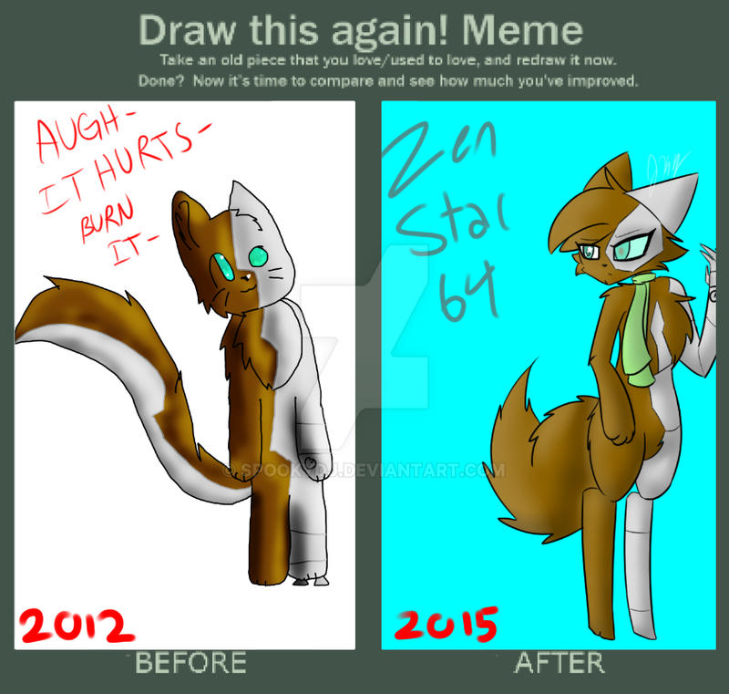 draw this again meme template - draw it again meme by spookydj on deviantart