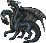 Shadow Two-Headed Dragon male by Seitira