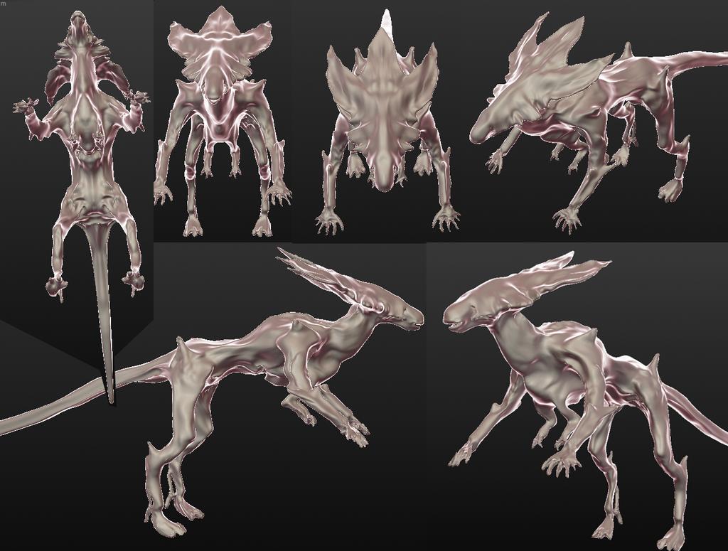 Queen Xenomorph Queen 3D WIP 2 by Seitira