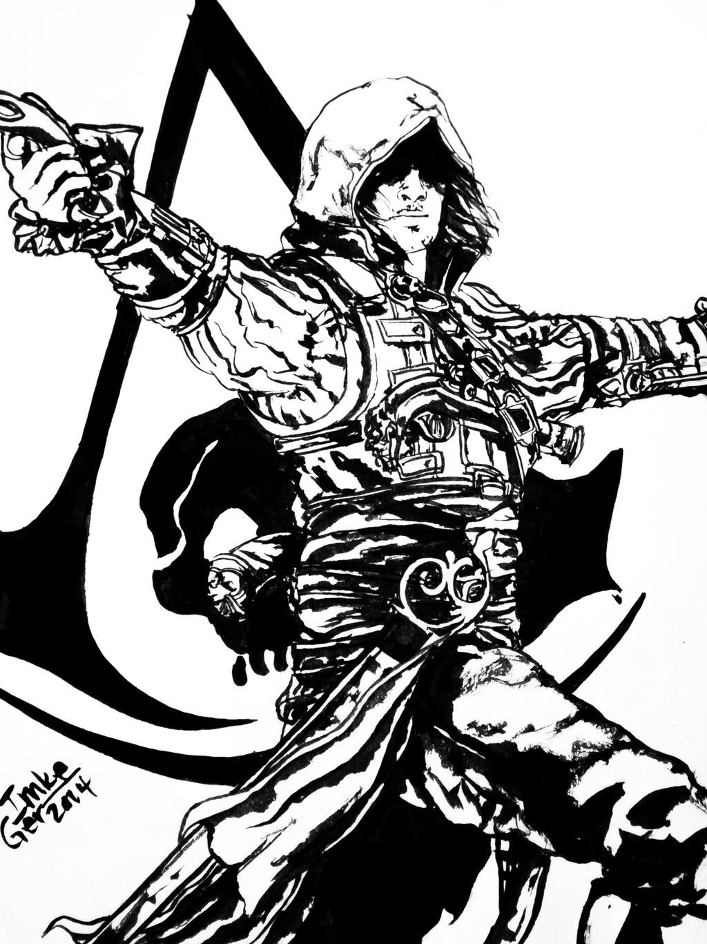 Assasins Creed 4 - Free Coloring Pages