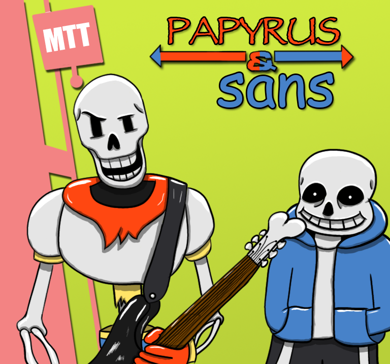 Papyrus and Sans by TechnoColt