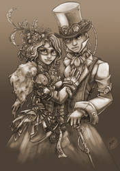 Steampunk Couple by Resident-Jade