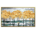 Landscape abstract oil painting