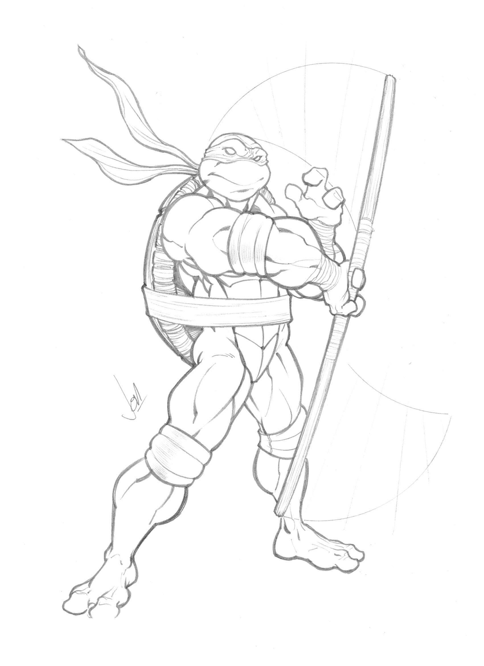 Line Art Ninja Turtles : Donatello by jpm on deviantart