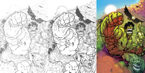 Hulk pencils inks and colors by jpm1023