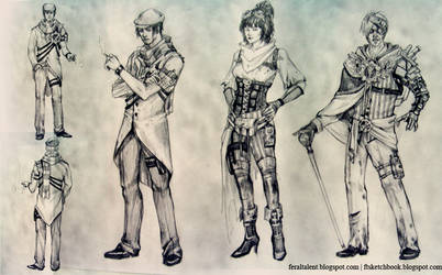 Steampunk Character Lineup
