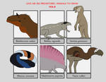 Six Prehistoric Animals Vol8 by YellowPanda2001