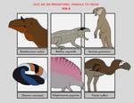 Six Prehistoric Animals Vol8 by YellowPanda2001