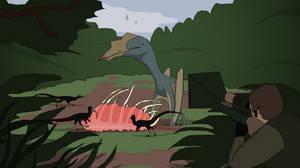 Complex Landscape (Simple) - Pterosaur Hunt