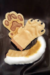 Soft and Shiny Handpaws and tail - FOR SALE