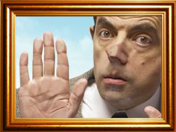 Mr. Bean in Picture frame by sachinnayyar