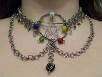 Chainmail Pentacle by Ethril-Dragon