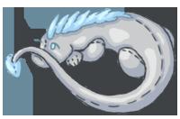 Silver Hatchling Plushie by Ethril-Dragon