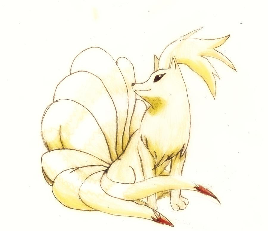 how to draw ninetales pokemon