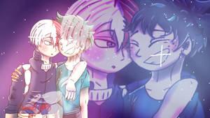 Galaxy Boys [TodoDeku Fanart] by MidnightZWarrior2b2