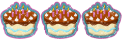 Yummy Cake Gif with glitter for Xat by Mario1630isAwesome