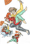 Ranma and Ryoga Rescue Color