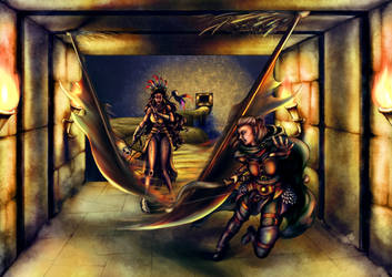 Dodging Traps -- Ascendant Destiny by MaddieMunnMakes