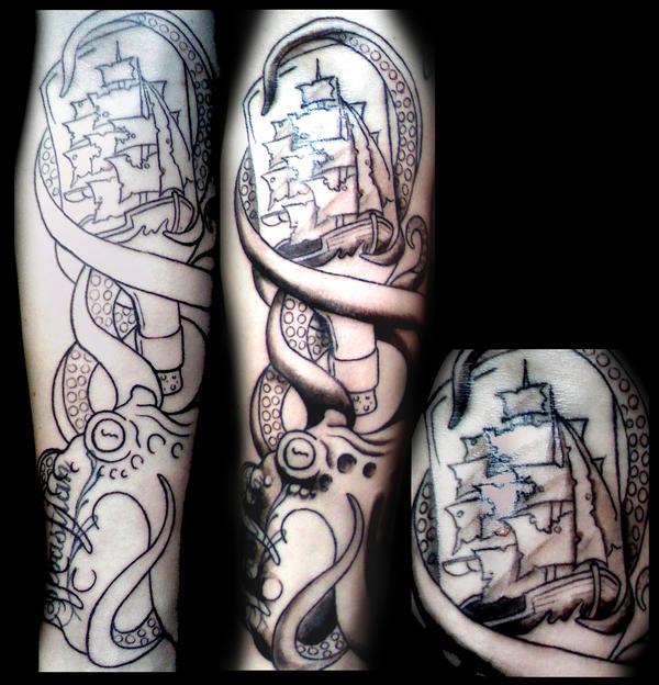 Octopus Shipwreck Tatt...