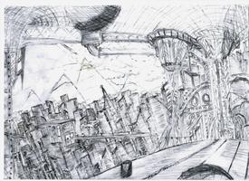 Neo City Drawing - 2
