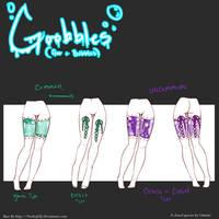 Goobbles! Leg Type Ref Sheet by Onirini
