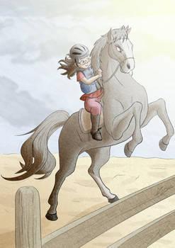 Rebecca a cavallo
