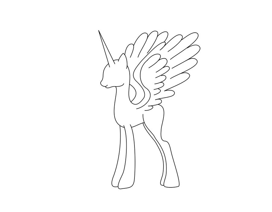 My Little Pony Alicorn Coloring Pages : The gallery for gt alicorn coloring page