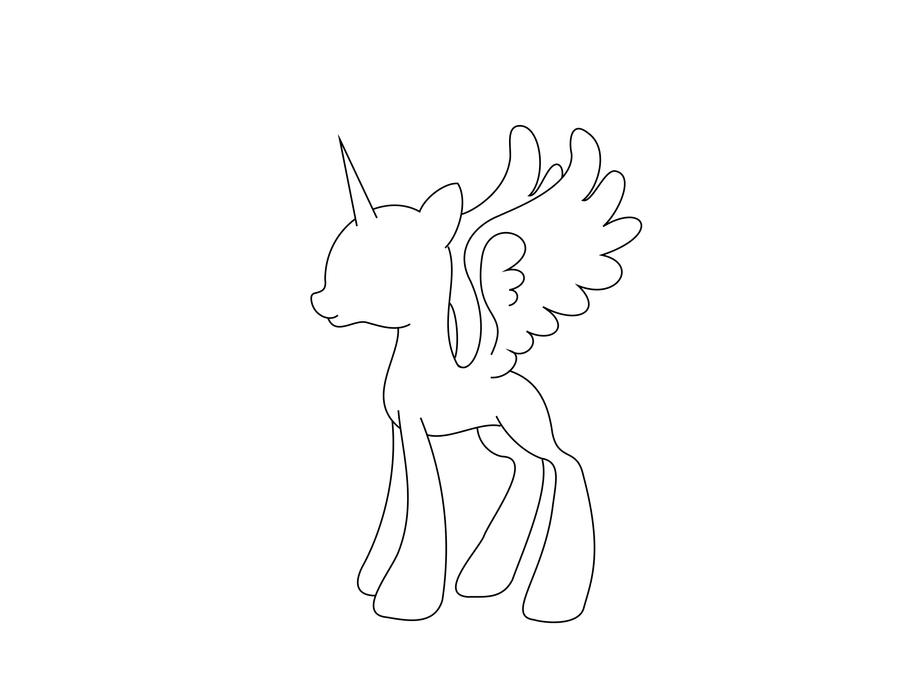 My Little Pony Alicorn Coloring Pages : Mlp base alicorn coloring pages