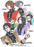 Faces of the Ninjas of the Mortal Kombat